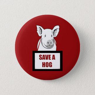 Bóton Redondo 5.08cm Economias do Vegan do vegetariano um porco
