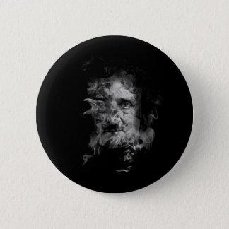 Bóton Redondo 5.08cm Edgar Allan Poe no fumo com corvo