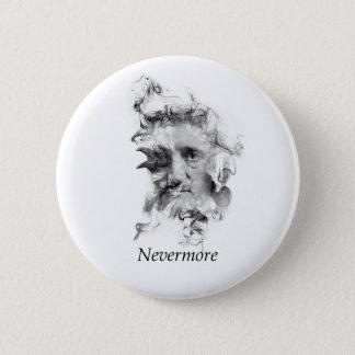 Bóton Redondo 5.08cm Edgar Allan Poe no fumo com corvo - nunca mais