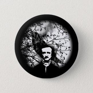 Bóton Redondo 5.08cm Edgar Allan Poe 'o Raven