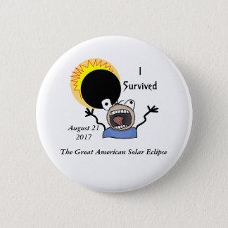 Bóton Redondo 5.08cm Edição da sobrevivência do eclipse 2017 solar