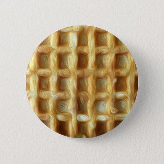 Bóton Redondo 5.08cm Efeito da pintura de óleo do Waffle