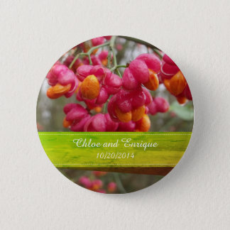 Bóton Redondo 5.08cm Eixo cor-de-rosa botão Wedding personalizado do