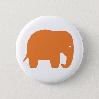 Bóton Redondo 5.08cm elefante alaranjado