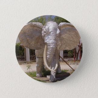 Bóton Redondo 5.08cm Elefante da prata na praia de Kenya