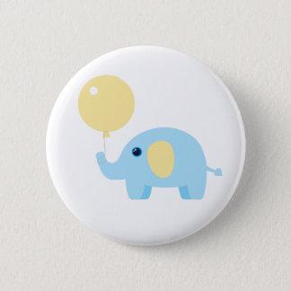 Bóton Redondo 5.08cm elefante do bebê azul com balão