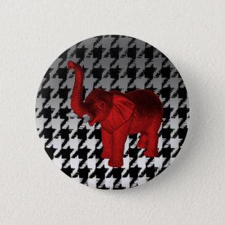 Bóton Redondo 5.08cm Elefante vermelho