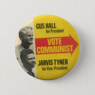 Bóton Redondo 5.08cm Eleição 1976 - GUS Salão/botão de CPUSA de Jarvis