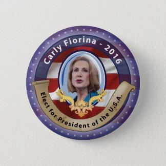 Bóton Redondo 5.08cm Eleja Carly Fiorina para o presidente - 2016