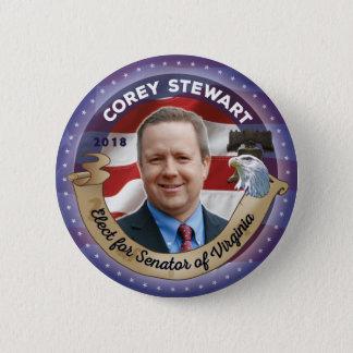 Bóton Redondo 5.08cm Eleja Corey Stewart para o senador de Virgínia