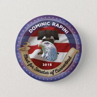Bóton Redondo 5.08cm Eleja Dominic Rapini para o senador de Connecticut
