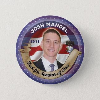 Bóton Redondo 5.08cm Eleja Josh Mandel para o senador de Ohio