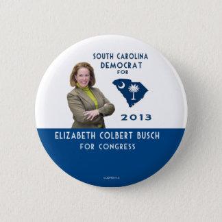 Bóton Redondo 5.08cm Elizabeth Colbert Busch para o botão do congresso