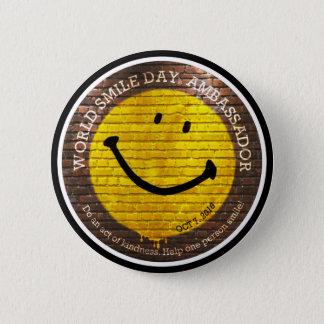 Bóton Redondo 5.08cm Embaixador 2016 botão de Day® do sorriso do mundo