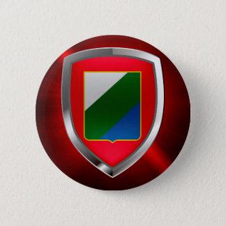 Bóton Redondo 5.08cm Emblema de Abruzzo Mettalic