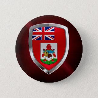 Bóton Redondo 5.08cm Emblema de Bermuda Mettalic