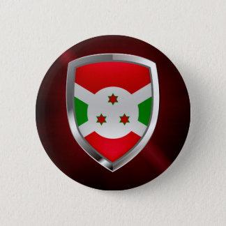 Bóton Redondo 5.08cm Emblema de Burundi Mettalic