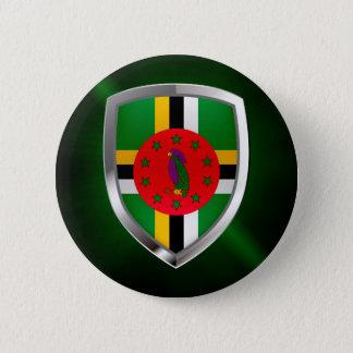 Bóton Redondo 5.08cm Emblema de Dominica Mettalic