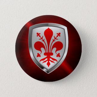 Bóton Redondo 5.08cm Emblema de Firenze Mettalic