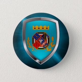Bóton Redondo 5.08cm Emblema de Lazio Mettalic