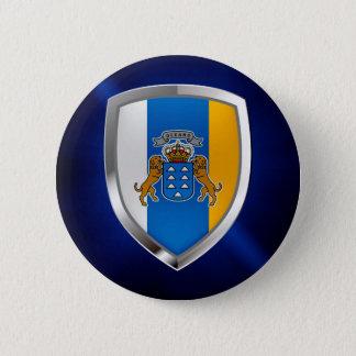 Bóton Redondo 5.08cm Emblema de Mettalic das Ilhas Canárias