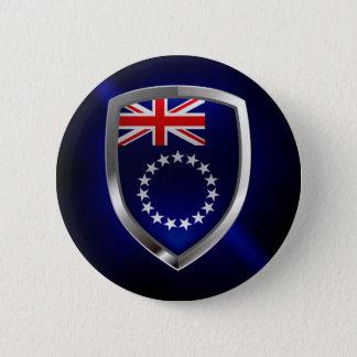 Bóton Redondo 5.08cm Emblema de Mettalic das Ilhas Cook