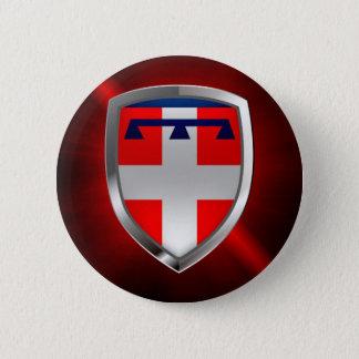 Bóton Redondo 5.08cm Emblema de Piemonte Mettalic