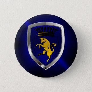 Bóton Redondo 5.08cm Emblema de Torino Mettalic