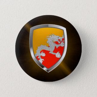 Bóton Redondo 5.08cm Emblema metálico de Bhutan