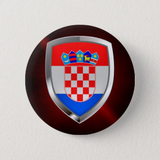 Bóton Redondo 5.08cm Emblema metálico de Croatia