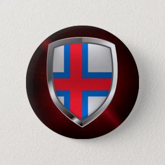 Bóton Redondo 5.08cm Emblema metálico de Faroe Island