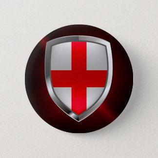 Bóton Redondo 5.08cm Emblema metálico de Inglaterra