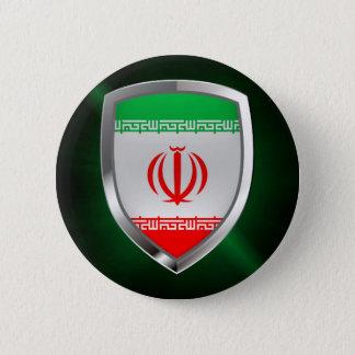 Bóton Redondo 5.08cm Emblema metálico de Irã