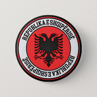 Bóton Redondo 5.08cm Emblema redondo de Albânia