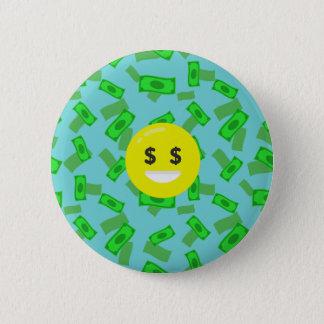 Bóton Redondo 5.08cm emoji eyed dinheiro