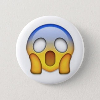 Bóton Redondo 5.08cm Emoji Scared
