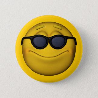 Bóton Redondo 5.08cm Emoticon com óculos de sol