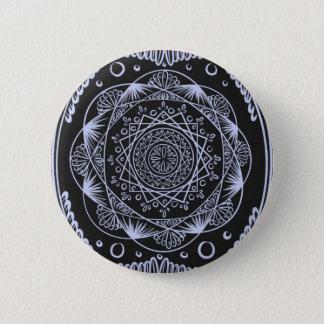 Bóton Redondo 5.08cm Enegreça, despertando o teste padrão do zen,