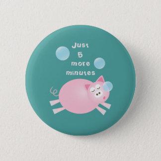Bóton Redondo 5.08cm Engraçado porco sonolento grande de um sonho de