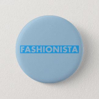 Bóton Redondo 5.08cm Entalhe azul corajoso do texto do Fashionista