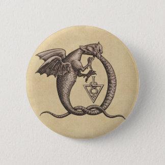Bóton Redondo 5.08cm Enxofre e dragões de Mercury