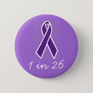 """Bóton Redondo 5.08cm Epilepsia """"1 em 26"""" botão"""