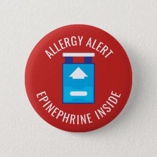 Bóton Redondo 5.08cm Epinefrina alerta da alergia dentro dos miúdos