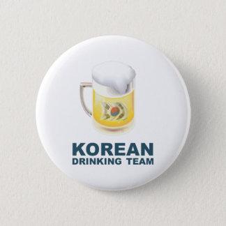 Bóton Redondo 5.08cm Equipe coreana do bebendo