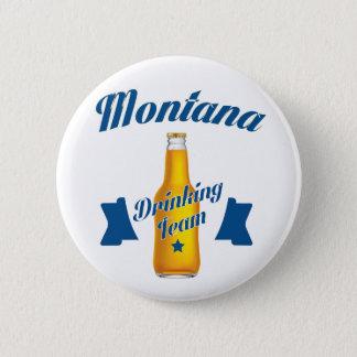 Bóton Redondo 5.08cm Equipe do bebendo de Montana
