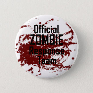 Bóton Redondo 5.08cm Equipe oficial sangrenta da resposta do zombi