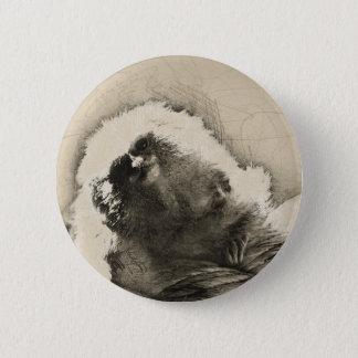 Bóton Redondo 5.08cm Esboço das belas artes do Marmoset do macaco
