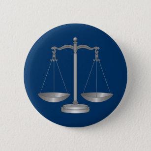 Bóton Redondo 5.08cm Escalas de justiça