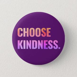 Bóton Redondo 5.08cm Escolha o botão Pin-Para trás roxo da bondade