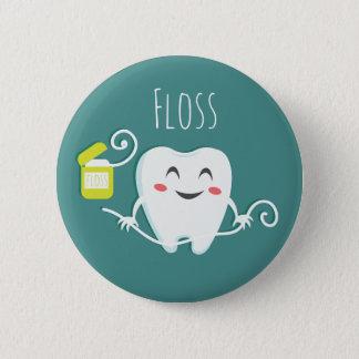 Bóton Redondo 5.08cm Escove o padrão do dentista dos dentes, botão